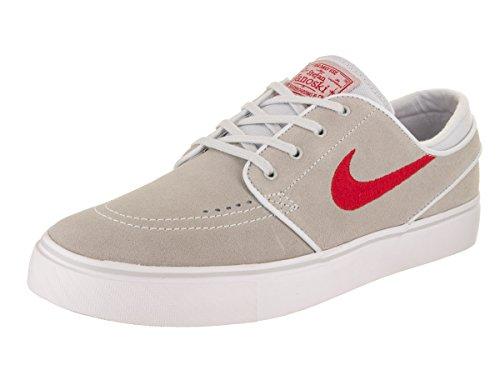 Nike Men's Zoom Stefan Janoski Pure/Platinum/University/Red Skate Shoe 9 Men US
