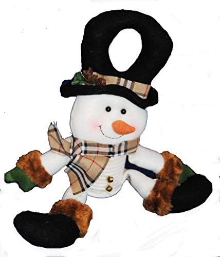 Changing Seasons Plush Christmas Door Hanger Decoration (White Snowman)