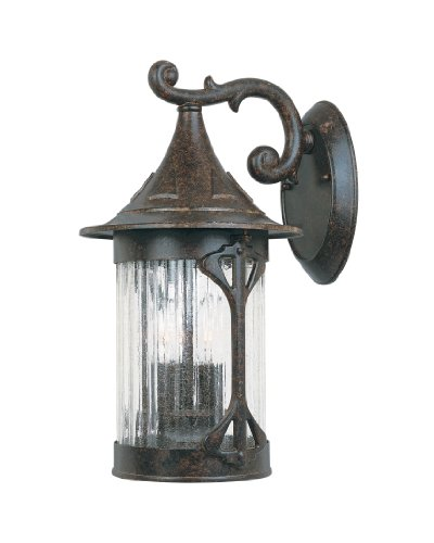 Designers Fountain 20921-CHN Canyon Lake 9 Inch Wall Lantern by Designers Fountain