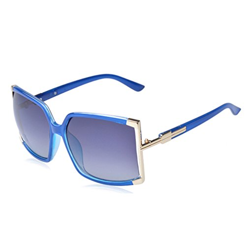 W-Q 2016 New Womens Trendy Personality Oversize Square UV Protection - Polarized Protection And Difference The Is Uv What Between