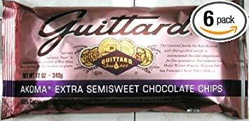 Guittard Akoma Extra Semisweet Baking Chips 12oz Bag (Pack of 6) - Guittard Semi Sweet