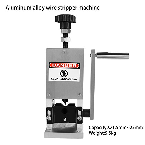 Homdox Wire Stripping Machine Automatic Drill/Handle Wire Stripper Machine Copper (US Stock) by Homdox (Image #2)