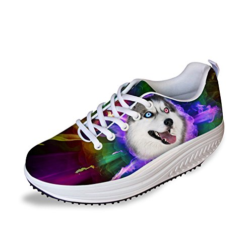 Stylish Wedges Women Animal Shoes Slimming Casual Platform Height Husky DESIGNS Flat FOR Swing Increasing U UEqwOvA