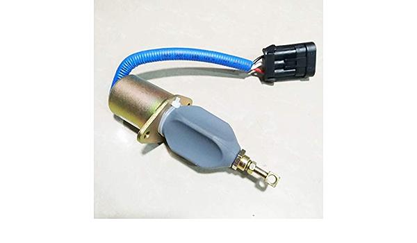 Holdwell Fuel Shutoff Solenoid SA-4981-12 for Dodge Cummins RAM 5.9L RAM2500 RAM3500 PickUp 12 Volt