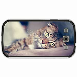 New Style Customized Back Cover Case For Samsung Galaxy S3 Hardshell Case, Black Back Cover Design Cat Personalized Unique Case For Samsung S3 wangjiang maoyi