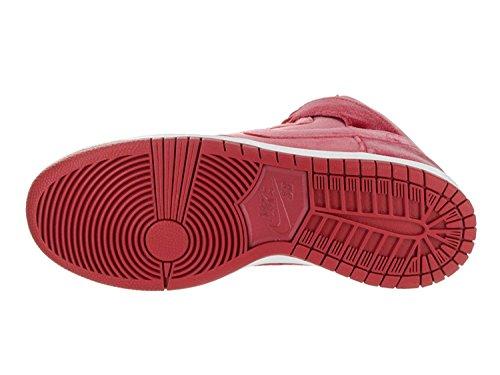 NIKE Herren Dunk High Premium SB Skateschuh Gym Red / Gym Rot-weiß
