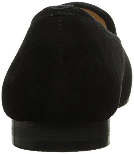 SMYTHE & DIGBY Mens Albert Slipper Leather Velvet Loafer Black 3BaPrYoF