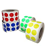 Color code stickers dots labeling - Colored labels rolls in 13mm 0.50 inch - 4320 Pack by Royal Green