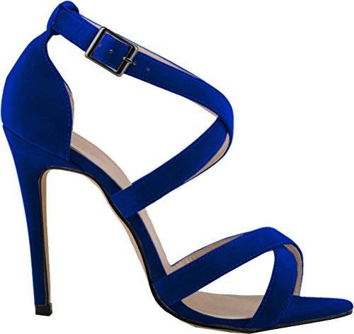 tacón con Azul mujer Zapatos Salabobo xCw1qEfUfg
