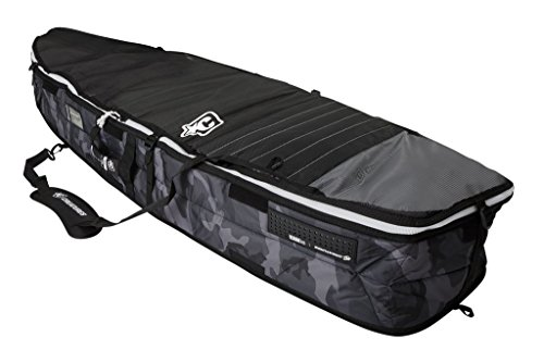 Creatures of Leisure Fish Triple Surfboard Bag Black White 6 feet 7 inches (Triple Bag Board)
