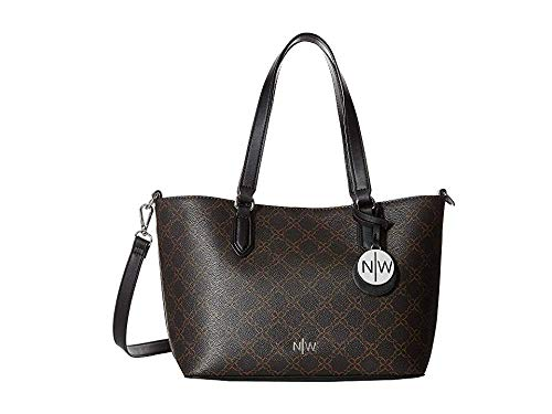 Nine West Women's Bryn Small Trap Tote Brown One Size (Handbags West Nine)
