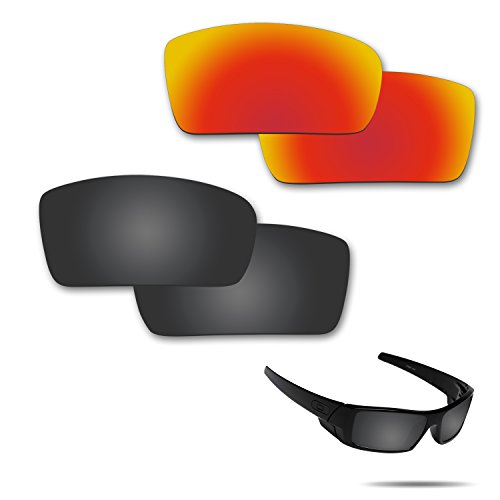 Fiskr Anti-saltwater Polarized Replacement Lenses for Oakley Gascan Sunglasses 2 Pairs - Glasses Gascan