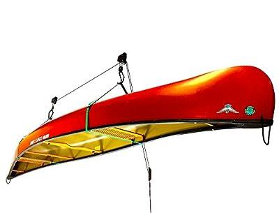 StoreYourBoard Canoe Ceiling Storage Hoist   Hi-Lift Home & Garage Hanging Pulley Rack
