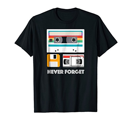 Funny Never Forget Floppy Disk, VHS and Casette Tapes Shirts -