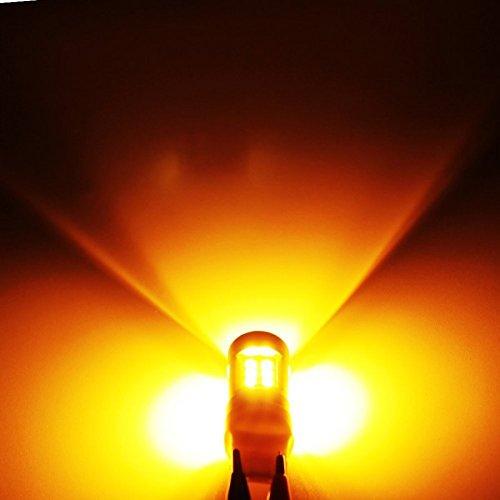 Zesfor® Bombilla LED T20 W21W Ambar CANBUS - Tipo 82: Amazon.es ...