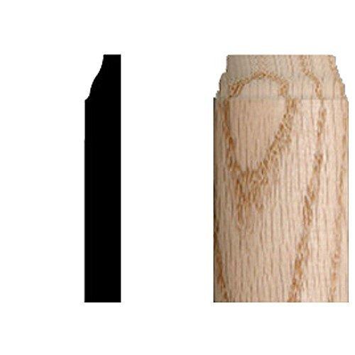 - 3/8 in. x 3/8 in. x 3-1/4 in. Oak Radius Base Corner Block Moulding