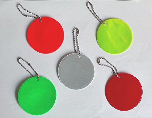Treading(TM) Round reflector,Reflective Pendant for visible safety use dangled on bag,mobile phone,clothing,