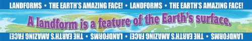 Gallopade Publishing Group Landforms: Earth's Amazing Face! Bulletin Board Borders (9780635105813) (Photography Map Aerial)