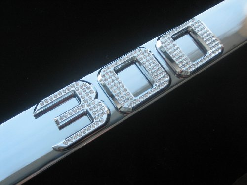 Chrysler 300 License Plate Frame Chrome Iced Out Swarovski (Iced Out Emz Emblems)