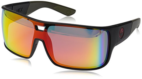 Dragon Alliance Hex Sunglasses, Matte Utility Green/Red - Dragon Sunglasses