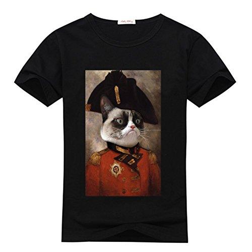 HGLee DIY Cat Grumpy T Printed 2 Black Tshirt Shirt Women's Tee Custom rAw1cr5qp