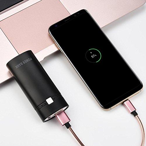 bescita 5600mAh USB externo portátil cargador de batería Caja Banco de la energía para iPhone X/8/8Plus/7/7Plus/6/6S/6Plus/6S Plus, Samsung S9/Nota 8/S8, Sony Xperia y otros smartphones, blanco negro
