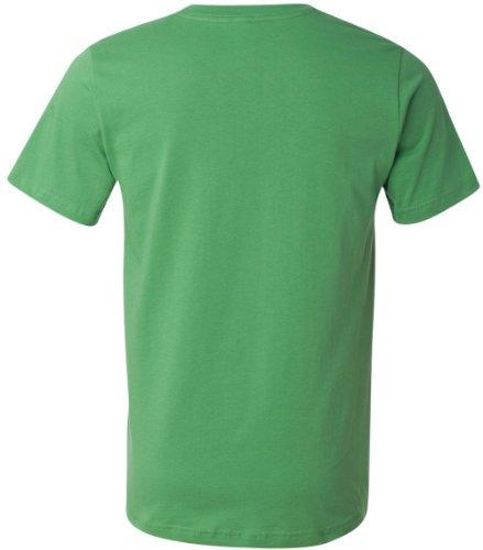 Bella + Canvas Unisex Kurze Ärmel hergestellt in den USA Crewneck T-Shirt–Athletic Heather XS grün - Leaf