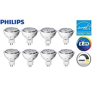 8 Pack Philips LED MR16 Dimmable Flood & Landscape Light Bulb: 450-Lumens 3000K 6.4-Watt (35-Watt Equivalent) GU5.3 Bi-Pin Base Bright White Light