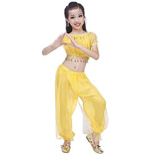 Maylong Girls Polka Dot Harem Pants Belly Dance Outfit Halloween Costume DW50 (Medium, -