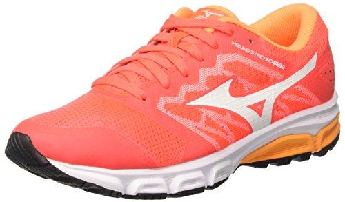 Mizuno Synchro Md (W) - Zapatillas de running Mujer Multicolore (FieryCoral/White/OrangePop)