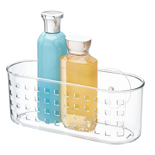 Best Prices! iDesign Plastic Suction Bathroom Shower Caddy Basket for Shampoo, Conditioner, Soap, Cr...