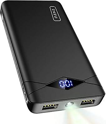 INIU 10000 mAh Banco de energía portátil con Pantalla LED Ultra ...