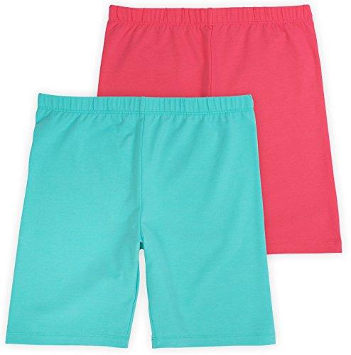 Annelle Pippa Big Girls Bike Underwear Shorts, Tagless, Soft Cotton, 2-Pack, Undershorts, Sunset, 12 by Annelle