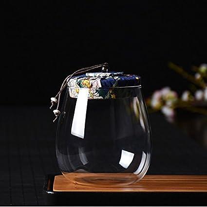 QIANGQIPeque?o Carrito de té Verde Naranja Transparente Botellas de Vidrio té a Granel Caja