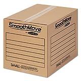 SmoothMove Moving Boxes, 16 1/2l x 12 1/4w x 12 5/8h, Kraft/Black, 25/Bundle, Sold as 25 Each