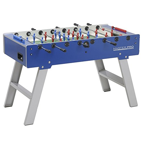 Garlando Master Pro Outdoor Foosball Table with Folding Legs, Safety Telescoping Rods, Abacus Scorers and 10 White (Pro Soccer Table)