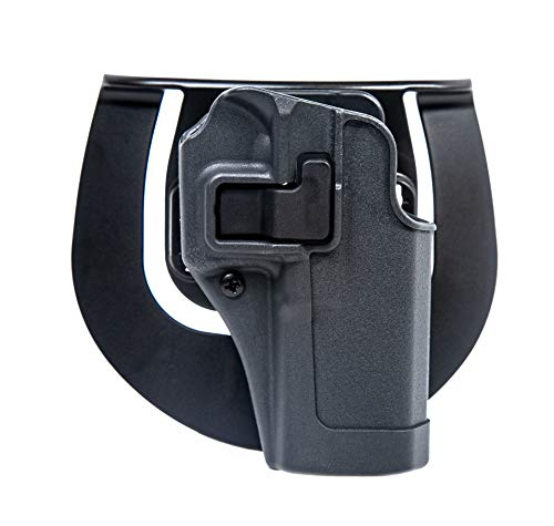 BLACKHAWK Serpa CQC Gun Metal Grey Sportster Holster, Size 04, Right Hand, (Beretta 92/96(not Elite/Brig.or M9A1))