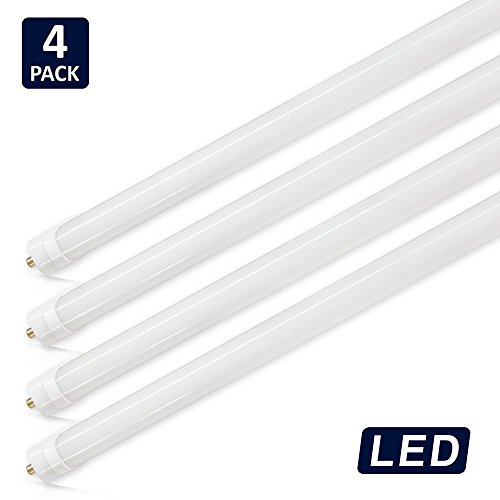 Fluorescent Light Covers Amazon: (Pack Of 4) Barrina T8 T10 T12 LED Light Tube, 8ft, 44W