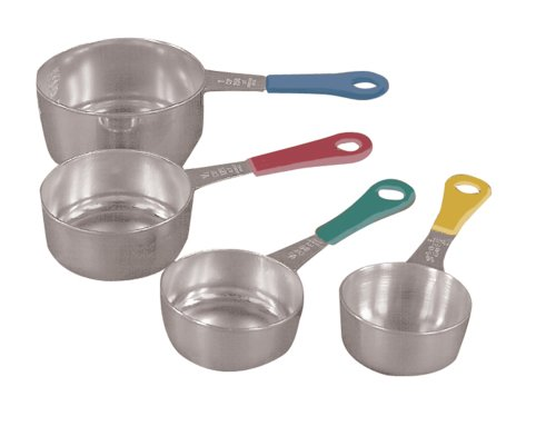 UPC 030734048399, Fox Run Set of Four Stainless Steel Measuring Cups with Colored Handles