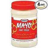 Kraft Foods Mayo Fat Free Mayonnaise Dressing Jars, 15 OZ (Pack of 12)