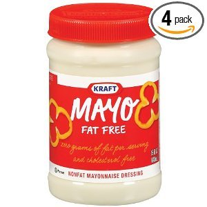 Kraft Mayo Fat Free Mayonnaise Dressing Jars 15 OZ (Pack of 24) by Kraft