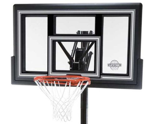 081483010847 - Lifetime 1084 Height Adjustable In Ground Basketball System, 50 Inch Shatterproof Backboard carousel main 1