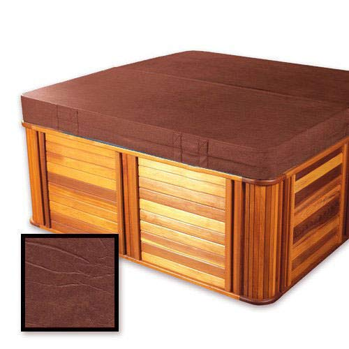 "The Cover Guy Standard 4"" Replacement Hot Tub Spa Cover Tiger River 78x78x6 Radius Corners - Brown"