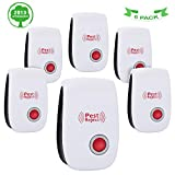 Highendberry Pest Repeller, Pest Control Ultrasonic Repellent, Non-toxic Spider Repellent, Pest Repellent Plug in Spider Repellent Indoor for Mosquito Spider Ant Mice Roach and other Insects (6 packs)
