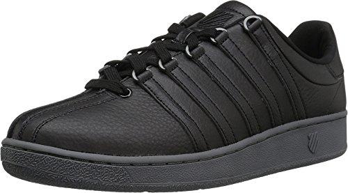 K-Swiss Men's Classic VN Fashion Sneaker, Black/Castle Gray/Gunmetal, 9.5 M US