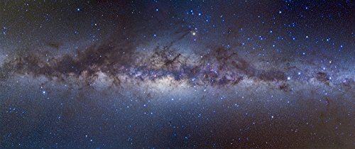 Posterazzi Panorama view of the center of the Milky Way Poster Print (44 x 18) - Milky Panorama Way