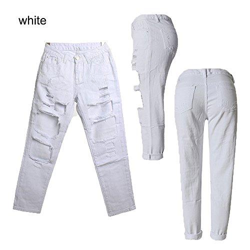 WENJHEN - Vaqueros - Cintura Alta - para mujer blanco