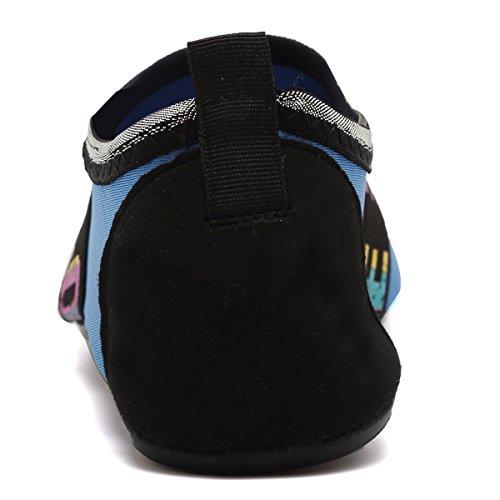 ANLUKE Wassersport Barfuß Schuhe Quick-Dry Aqua Yoga Socken Slip-On Für Männer Frauen Kinder F Blaue Liebe