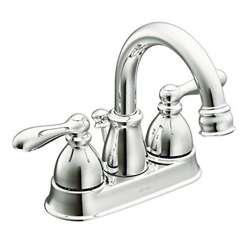 Moen WS84667 Two-Handle High Arc Bathroom Faucet, Chrome