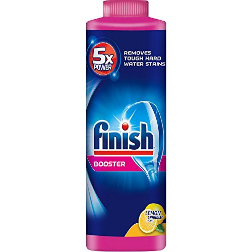 Price comparison product image Finish Powder Dishwasher Booster, Lemon Sparkle 14 oz Bottle, Hard Water Booster (Pack of 6)